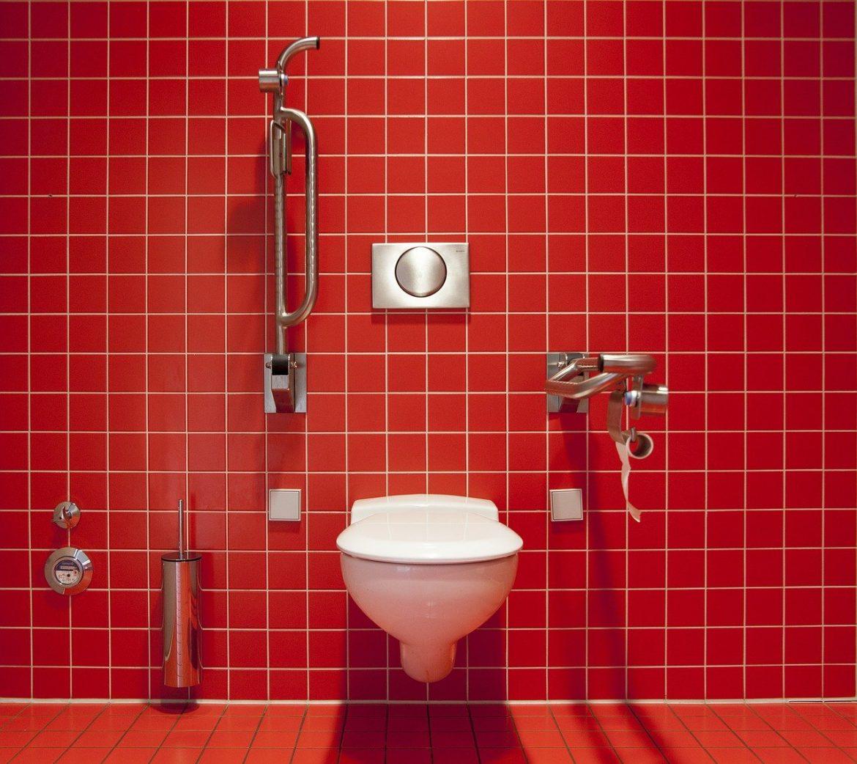Décoration : WC rouge